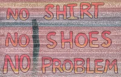 Mobile Bay No Shirt No Shoes No Problem Poster