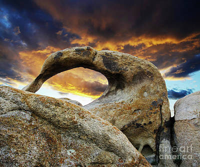 Poster featuring the photograph Mobious Arch California 7 by Bob Christopher