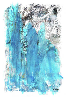 Modern Abstract Art - Blue Essence - Sharon Cummings Poster