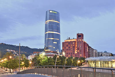 Poster featuring the photograph Modern Architecture Bilbao Spain by Marek Stepan