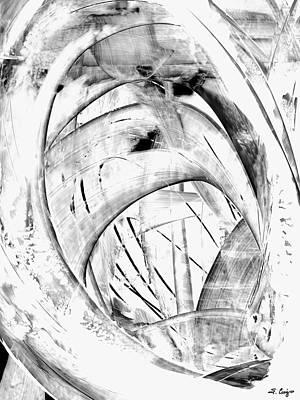 Modern Art - White Embers 1 - Sharon Cummings Poster by Sharon Cummings