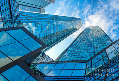Modern Business Skyscrapers Poster by JR Photography