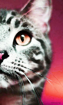 Modern Cat Art - Zebra Poster
