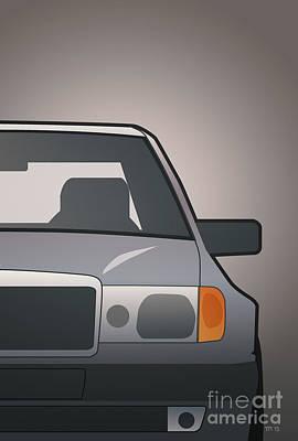 Modern Euro Icons Series Mercedes Benz W124 500e Split  Poster