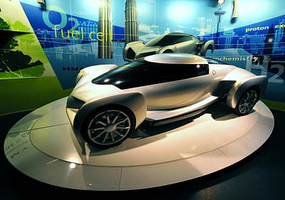 Modern Fuel Cell Car Poster
