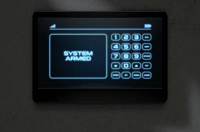 Modern Interactive Home Security Poster