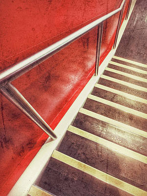 Modern Interior Stairs Poster by Tom Gowanlock