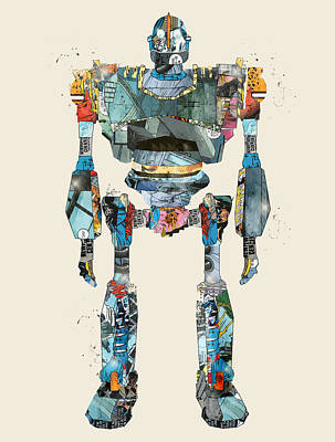 Modern Iron Giant Poster by Bri B