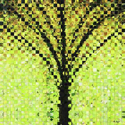 Modern Landscape Art - Pieces 10 - Sharon Cummings Poster