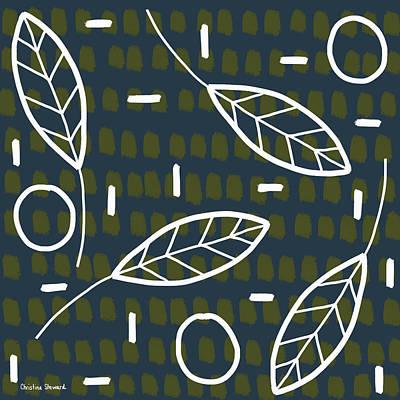 Modern Leaves Poster by Christina Steward