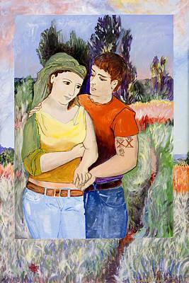 Modern Lovers  Poster by Susan Cafarelli Burke