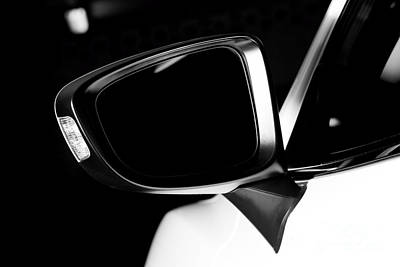 Modern Luxury Car Wing Mirror Close-up Poster