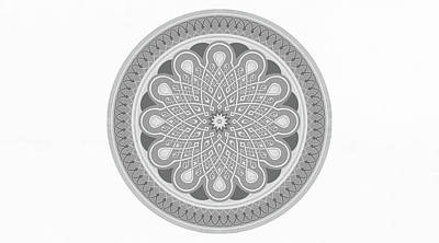 Modern Mandala Art - Flower Of Soul Poster by Wall Art Prints