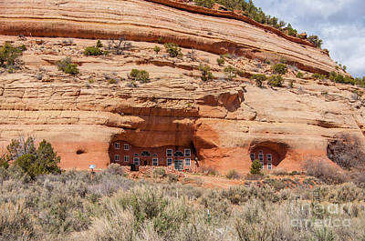 Modern Sandstone Cave Home - Utah Poster by Gary Whitton