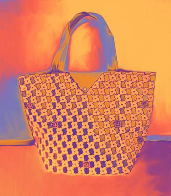 Modern Shopping Bag Poster