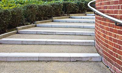 Modern Stone Steps Poster by Tom Gowanlock