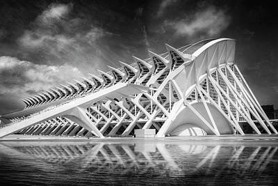 Modern Valencia In Black And White  Poster
