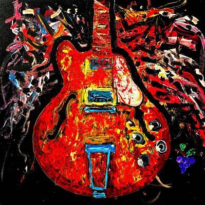 Modern Vintage Guitar Poster