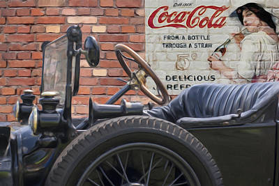 Modet T Vintage Coke Ghost Image Poster by Jack Zulli