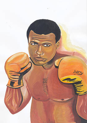 Poster featuring the painting Mohammed Ali by Emmanuel Baliyanga