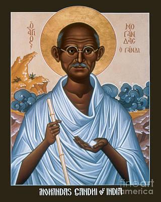 Mohandas Gandhi - Rlmog Poster by Br Robert Lentz OFM