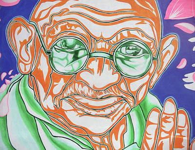 Poster featuring the photograph Mohandas Karamchand Gandhi  by Juergen Weiss
