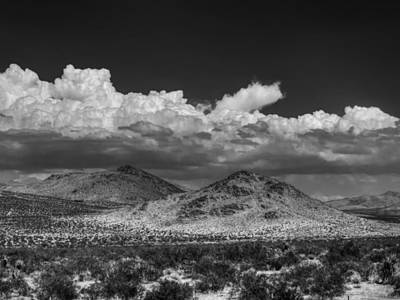 Poster featuring the photograph Mojave 020 Bw by Lance Vaughn