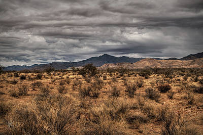 Poster featuring the photograph Mojave Landscape 001 by Lance Vaughn