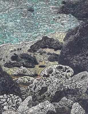 Mokuleia Coast Poster by Cynthia Conklin