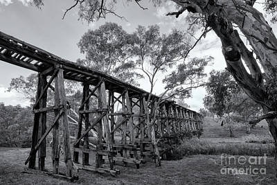 Poster featuring the photograph Mollisons Creek Trestle Bridge by Linda Lees