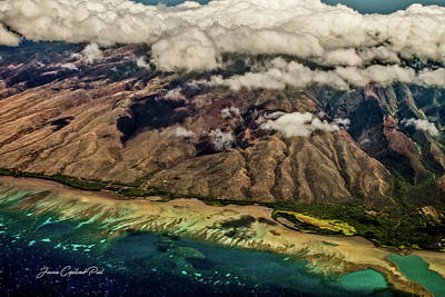 Molokai From The Sky Poster by Joann Copeland-Paul