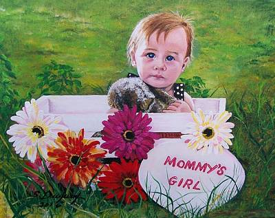 Mommy's Girl Poster by Sharon Duguay