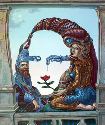 Mona Lisa. Love Poster