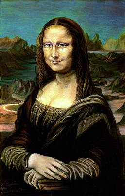 Mona Lisa My Version Poster