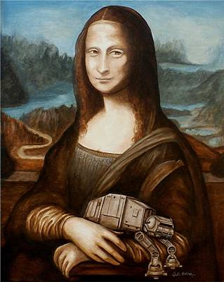 Mona Lisa What You Smiling At At Poster by Al  Molina