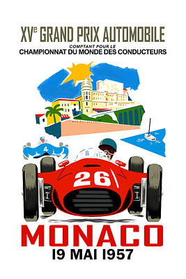 Monaco 1957 Poster