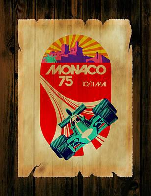 Monaco 1975 Poster by Mark Rogan