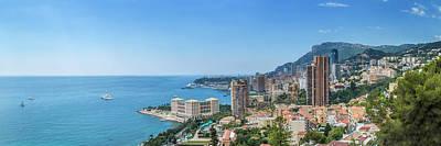 Monaco Cote D'azur - Panorama Poster by Melanie Viola