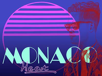 Monaco Heat Poster