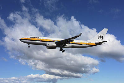 Monarch Airlines Airbus A330-243 Poster