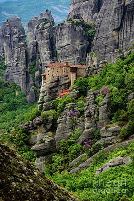 Monastery Of Saint Nicholas Of Anapafsas, Meteora, Greece Poster