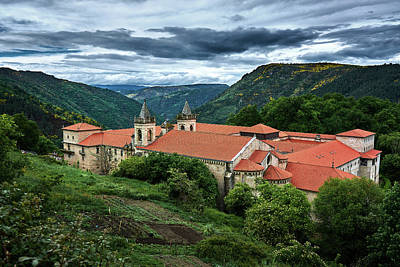 Monastery Of Santo Estevo De Ribas Del Sil Poster