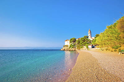 Monastery On Pebble Beach In Bol Poster by Brch Photography