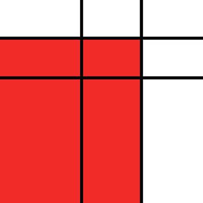 Mondrian Style Minimalist Pattern In Red Poster by Studio Grafiikka