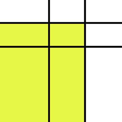 Mondrian Style Minimalist Pattern In Yellow Poster