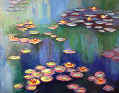 Monet's Lily Pads Poster