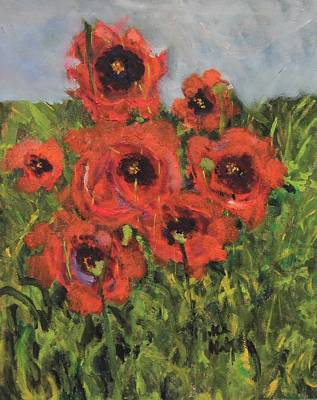 Monet's Poppies Poster by Michael Helfen