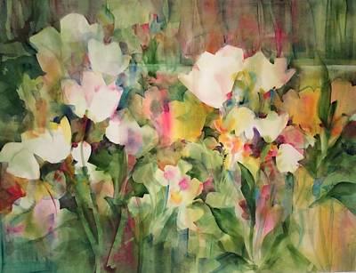 Monet's Tulips Poster