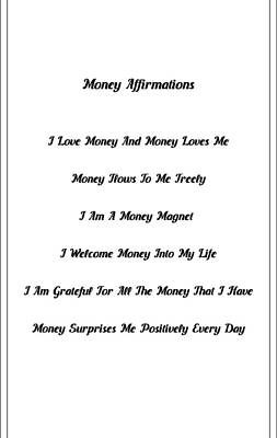 Money Affirmations - B Poster by Better Life