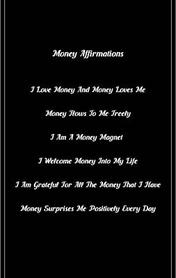 6 Powerful Money Affirmations Poster by Affirmation Today